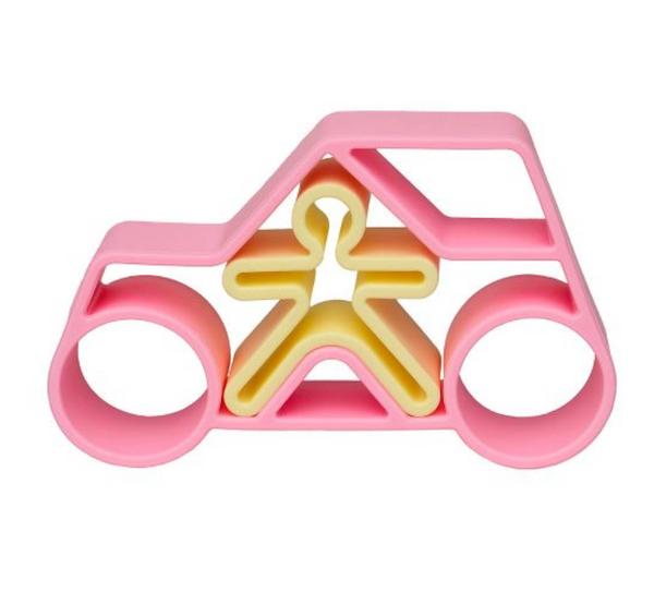 Bilde av Bil med sjåfør rosa